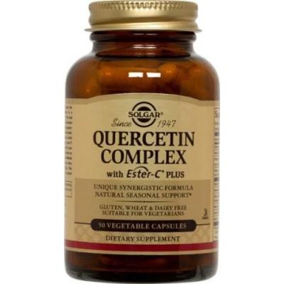 Quercetin Complex (con Ester C) Cápsulas Vegetales de Solgar SOLGAR  Sistema respiratório salud.bio