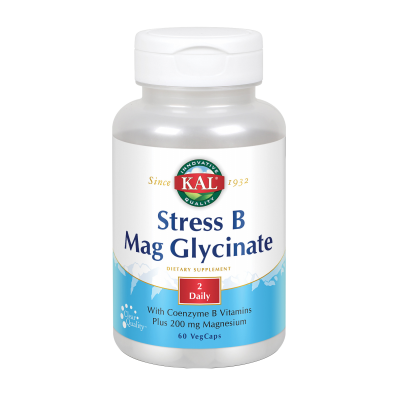 Stress B Mag Glycinate-60 VegCaps. de KAL SOLARAY 82324 Vitamina B salud.bio