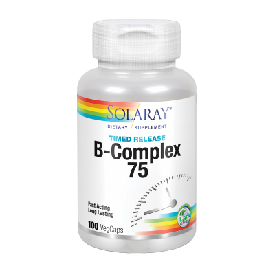 Vitamina B Complex 75 - 100 VegCaps de solaray Irwin Naturals 4291 Vitamina B salud.bio