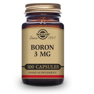 Boro 3 mg - 100 Cápsulas vegetales de Solgar SOLGAR 1001778 Vitaminas y Minerales salud.bio