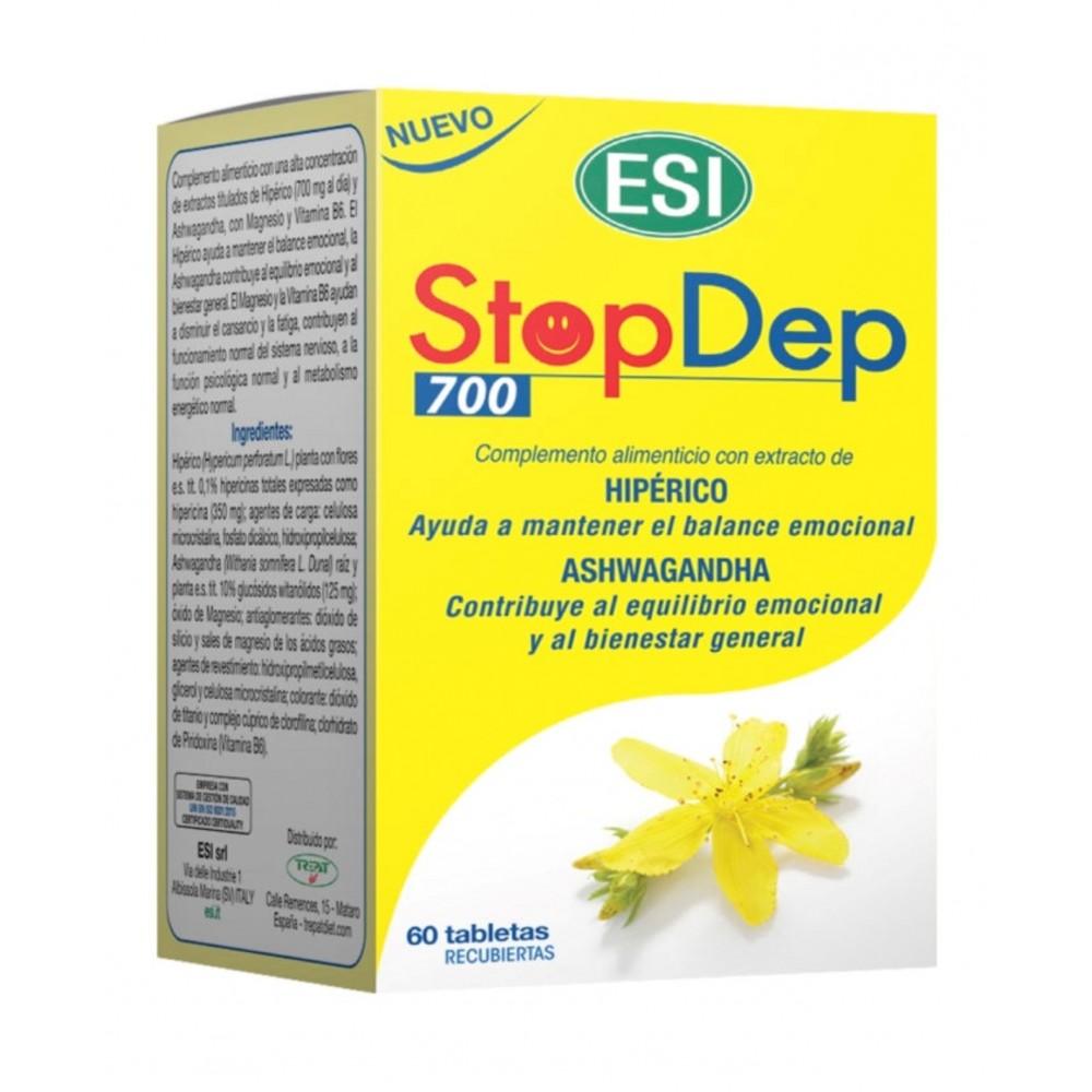 STOPDEP (60 TABLETAS) de ESI ESI LABORATORIOS 03010402 Estados emocionales, ansiedad, estrés, depresión, relax salud.bio