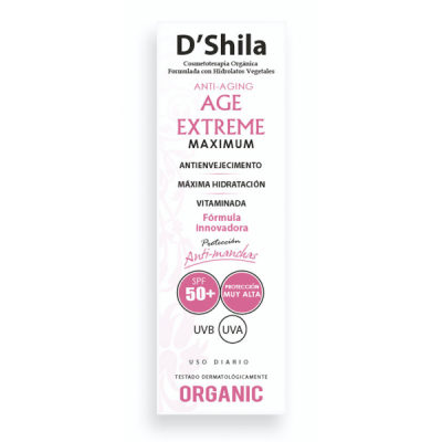 Tratamiento Crema Age extreme Maximum SPF+50 de D´Shila D´Shila 5016200060 Cosmética Natural salud.bio