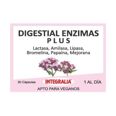 Digestial Enzimas 30 Cápsulas de Integralia INTEGRALIA 428 Ayudas aparato Digestivo salud.bio