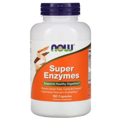 Súper Enzimas, 180 cápsulas de Now Foods Houston Enzymes NOW-02964 Ayudas aparato Digestivo salud.bio