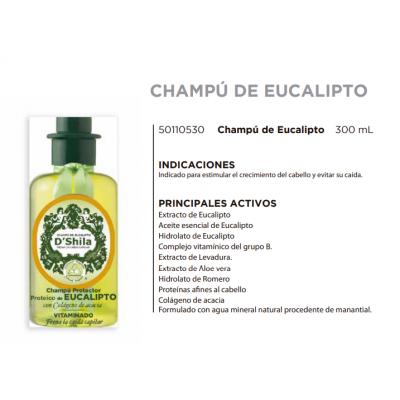 Champú Proteico de Eucalipto 300ml de D´Shila D´Shila 5011050300 Cosmética Natural salud.bio