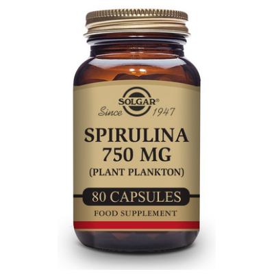 Espirulina 750 mg (Plancton) - 80 Cápsulas vegetales de Solgar Novadiet 1630028 Vitaminas y Minerales salud.bio