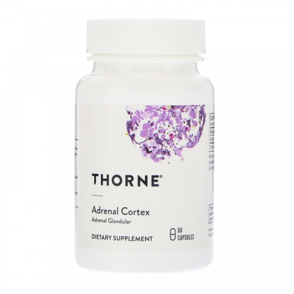 Corteza suprarrenal, 60 cápsulas vegetarianas de Thorne Research Thorne Research THR-80303 Estados emocionales, ansiedad, est...