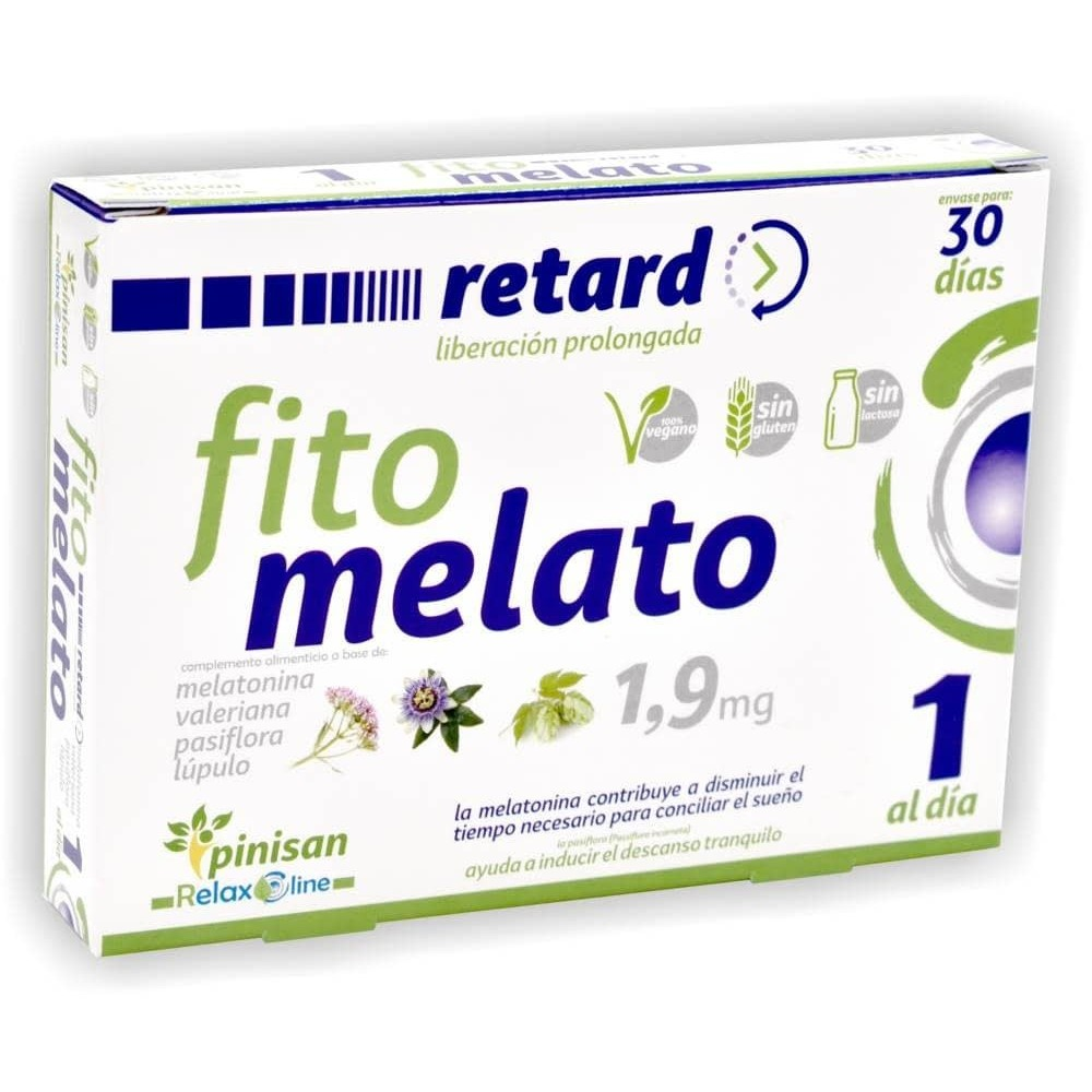 Fito Melato retard (melatonina 1.9mg 30 días) de Pinisan Thorne Research 106.00207 insomnio y descanso salud.bio