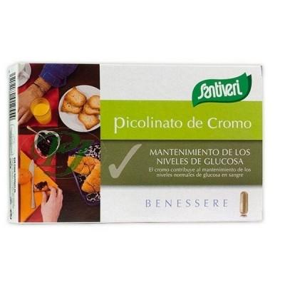 Picolinato de Cromo 200mcg (40 cápsulas) de Santiveri Santiveri  39440002 Ayuda Glucemia y Diabetes salud.bio