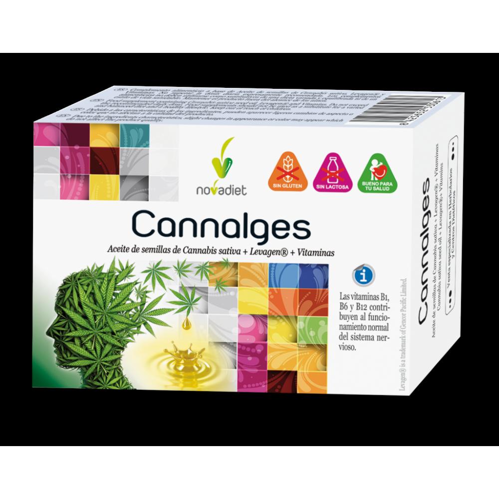 Cannalges de Novadiet Novadiet 53061 Suplementos Naturales acción Analgesica, Antiinflamatoria, malestar, dolor salud.bio