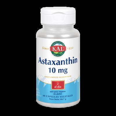 Astaxanthin 10mg 60 Vegcaps. de KAL SOLARAY 10022 Antioxidantes salud.bio