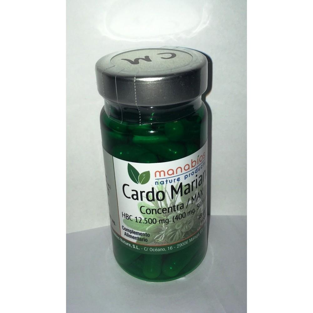 Cardo Mariano Concentración Máxima 12.500 mg en 48 cápsulas de Manabíos Manabios 111207 Higado y sistema hepatobiliar salud.bio