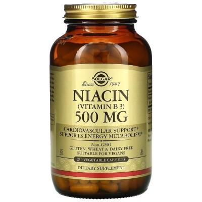 Niacina (vitamina B3) Niacin, 500mg, 250 Cáp de de Solgar SOLGAR SOL-01852 Vitamina B salud.bio