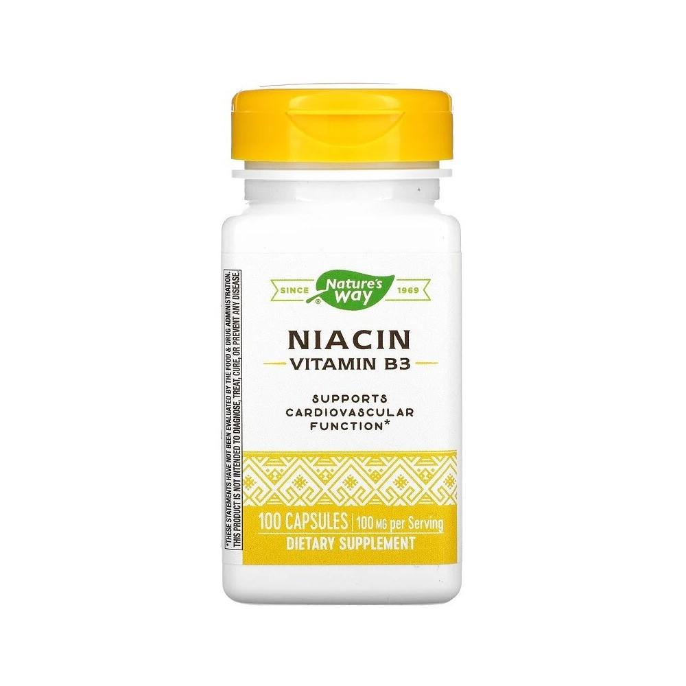 Niacin, Vitamina B3, 100 mg, 100 Capsules de Nature's Way Nature`s Way NWY-40470 Vitamina B salud.bio