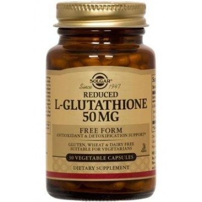L-Glutation 50 mg (reducido) Cápsulas vegetales SOLGAR  Antioxidantes salud.bio
