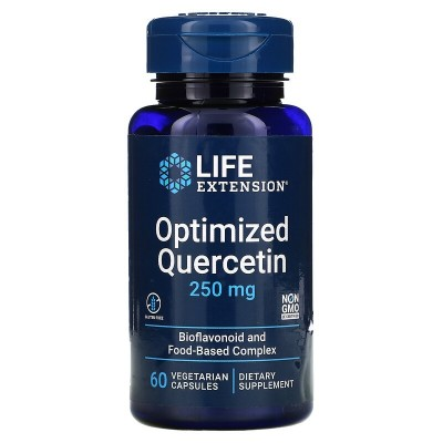 Quercetina optimizada, 250 mg, 60 cápsulas vegetales de Life Extension LifeExtension LEX-13096 Sistema respiratório salud.bio