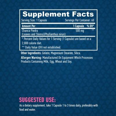 Chanca Piedra 500 mg 90 Caps de Haya Haya Labs LLC 26653 Bienestar urinario. Ayuda en el bienestar urinario. salud.bio