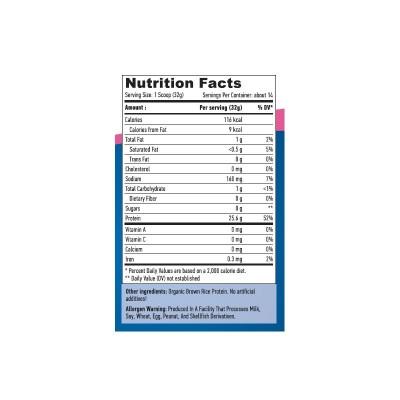 Proteina de Arroz 100% natural sin sabor de Haya Haya Labs LLC 17239 Proteinas salud.bio