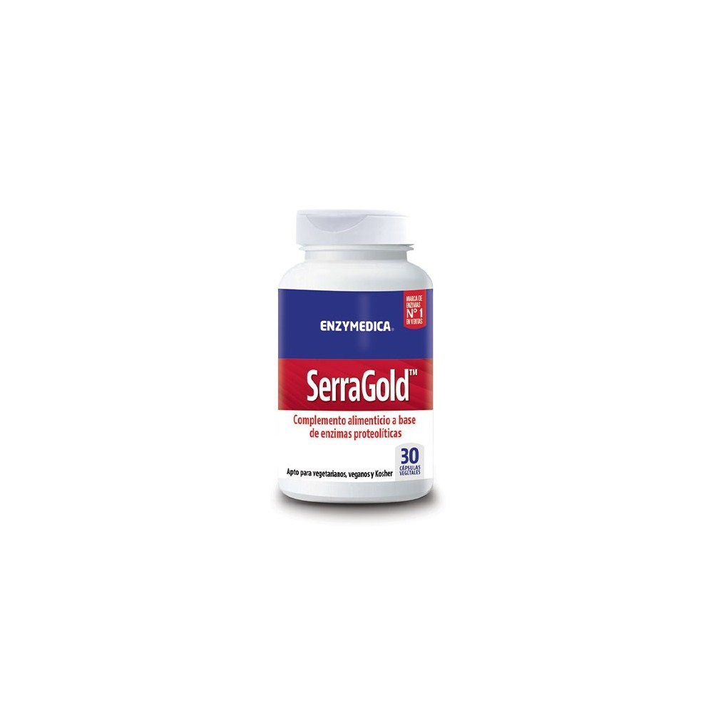 SerraGold Cápsulas de serrapeptasa de Enzymedica Enzymedica  Ayudas aparato Digestivo salud.bio