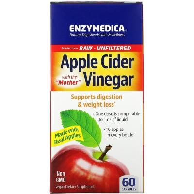 Vinagre de sidra de manzana 60 cápsulas de Enzymedica Enzymedica ENZ-10082 Ayudas aparato Digestivo salud.bio