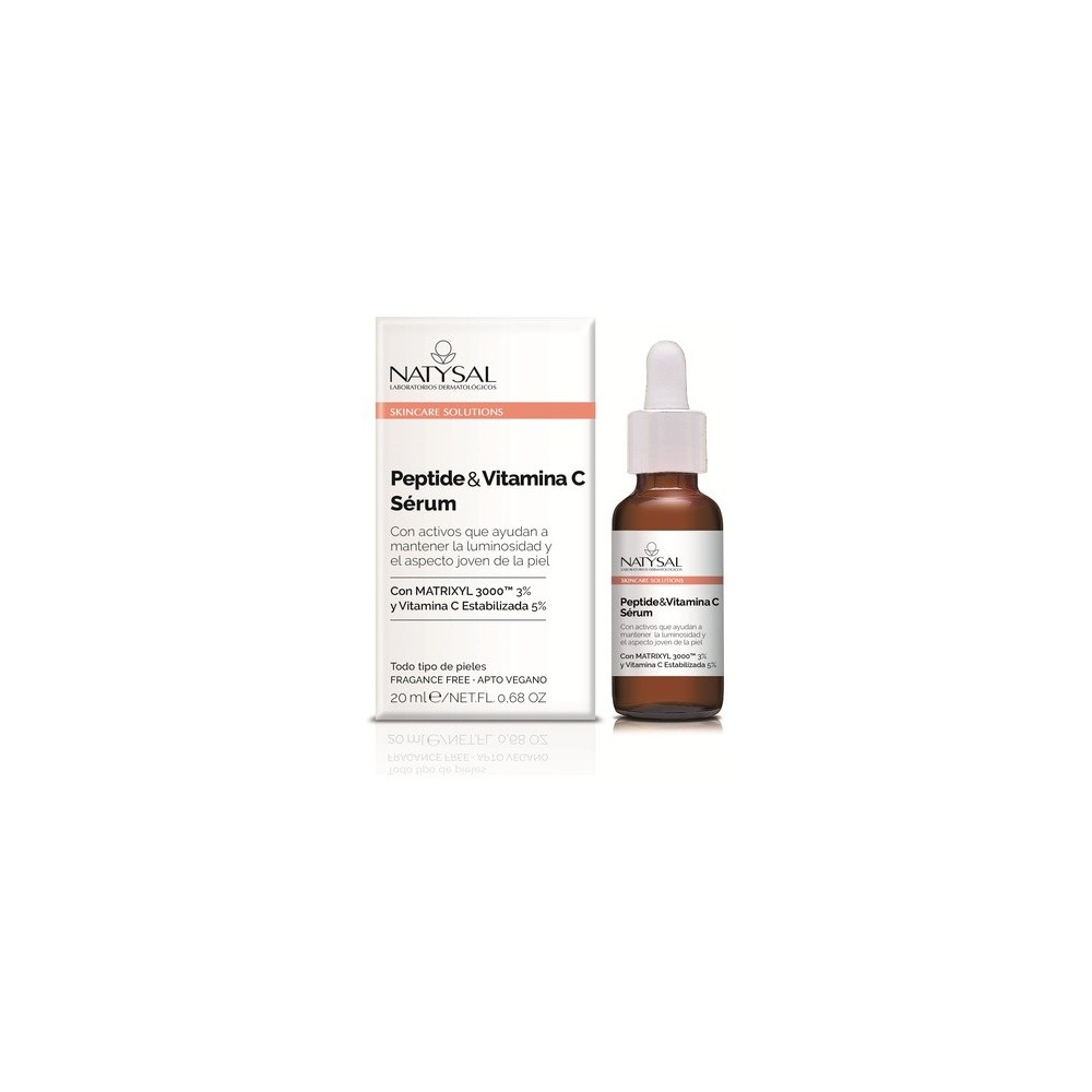 Sérum Péptide y Vitamina C 20ml Skincare Solutions de Natysal Natysal NAT-13648 Cosmética Natural salud.bio