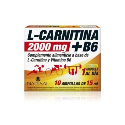 L-Carnitina 200mg + Vitamina B6 de Natysal Natysal 13518 Inicio salud.bio