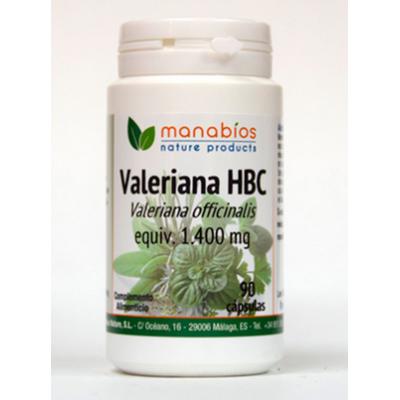Valeriana 1.400mg HBC 90 Cápsulas de Manabíos Manabios 111567 Estados emocionales, ansiedad, estrés, depresión, relax salud.bio