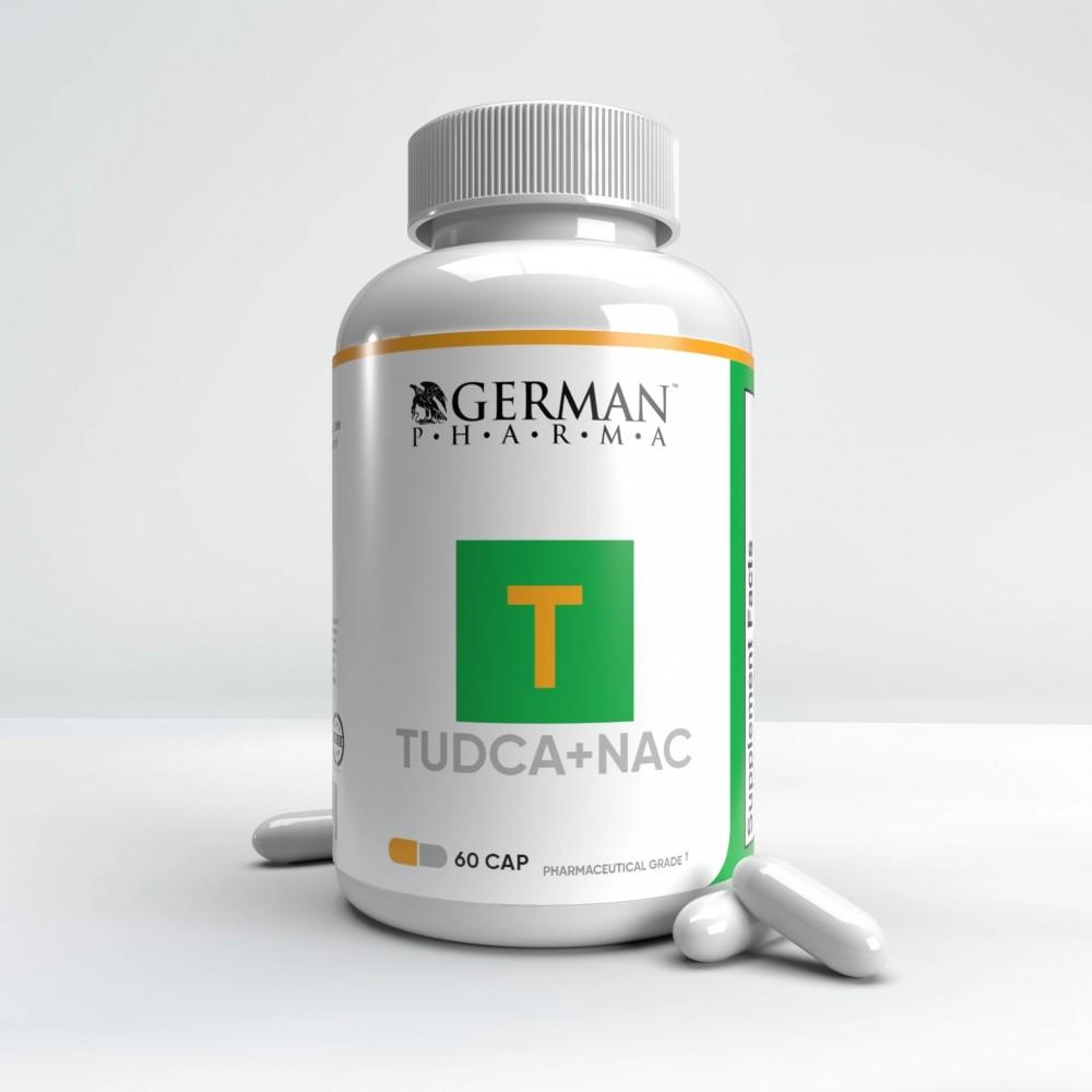 Tudca + NAC Hepatic support de German Pharmaceuticals German Pharma's GER-8464 Higado y sistema hepatobiliar salud.bio