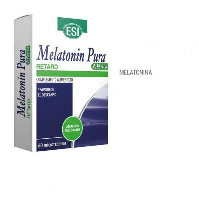 Melatonin pura Retard 1,9 mg (60 Comprimidos) de ESI ESI LABORATORIOS ESI-19011095 insomnio y descanso salud.bio