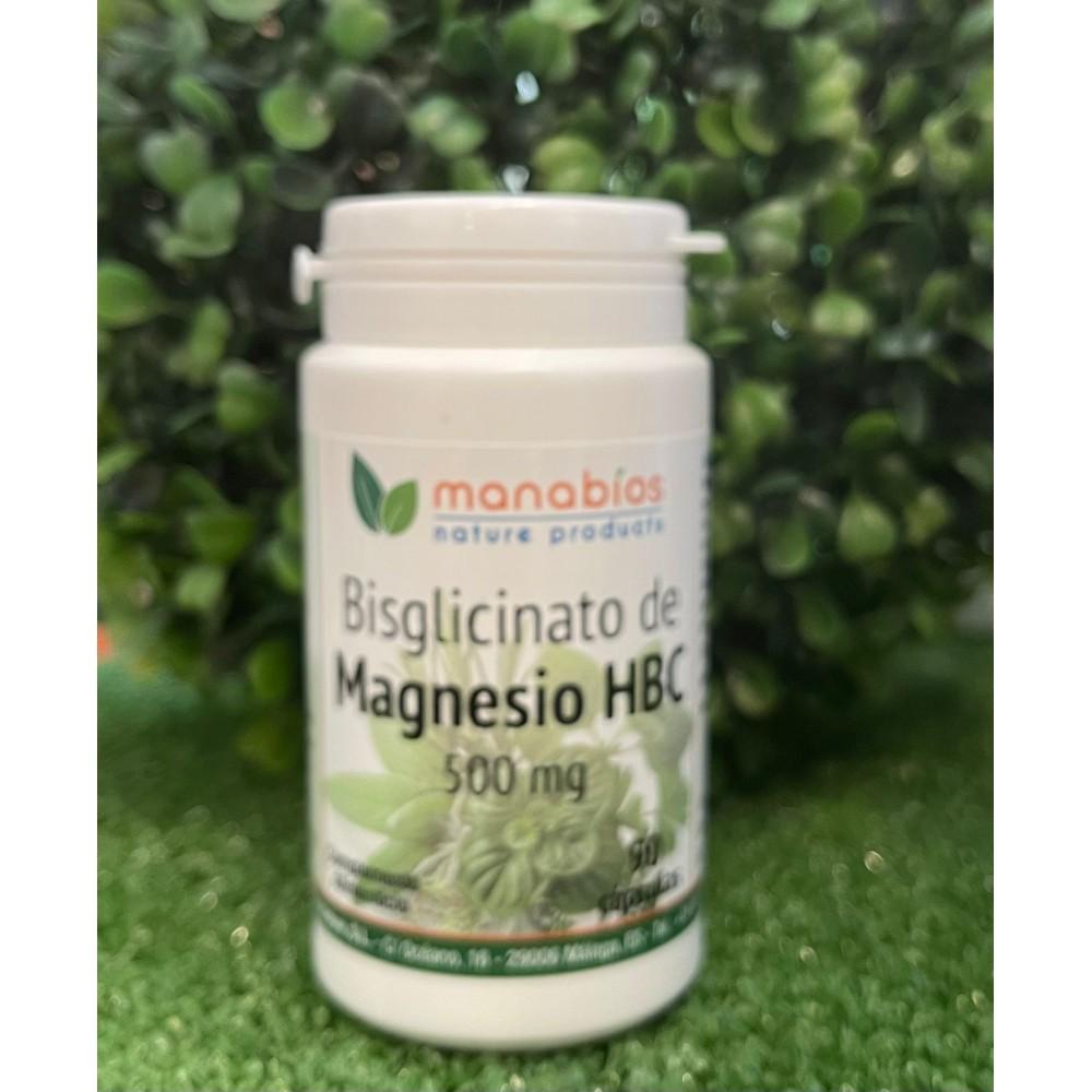 Bisgliconato de Magnesio HBC 90 cápsulas 500 mg de Manabios Manabios MAN-111480 Suplementos Minerales  salud.bio