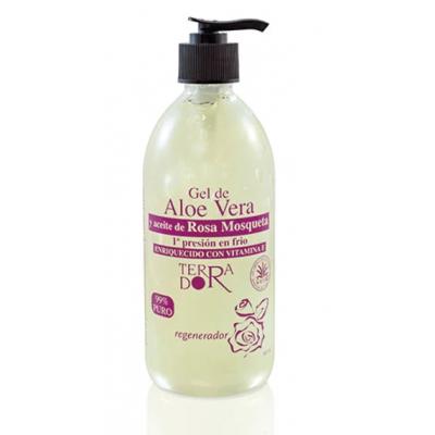 Gel aloe vera y Rosa Mosqueta 99% Puro 500 ml de derbós derbós laboratorio natural DER-090 Uso tópico salud.bio