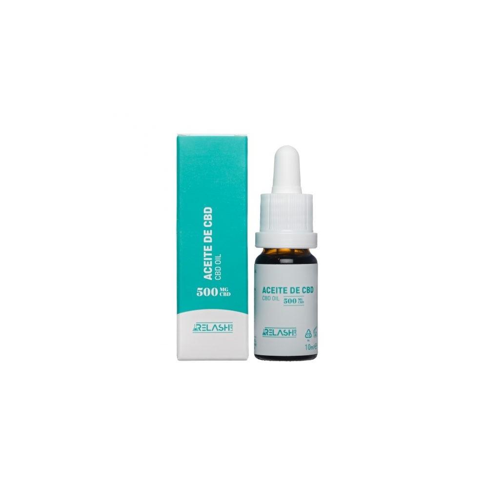 Aceite de CBD 500mg 10ml 5% de Relash lab Relash Lab 8425402748671 Plantas Medicinales salud.bio