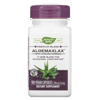 ALOEMAXLAX Aloe Vera plus 100 Vegan Capsules de Nature's Way Manabios NWY-00142 Laxantes salud.bio