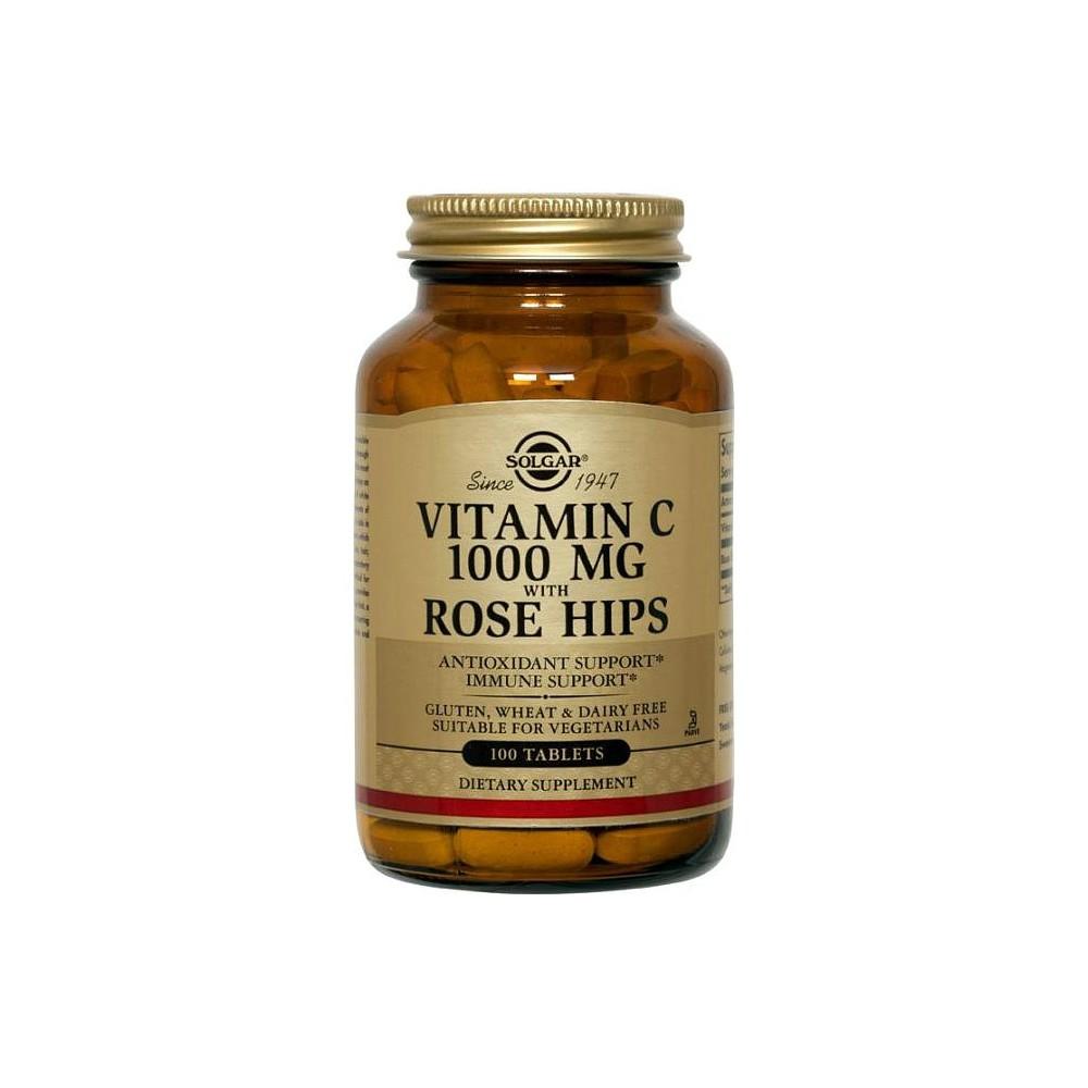 Vitamina C 1000 mg. With Rose Hips en 100 comprimidos de Solgar