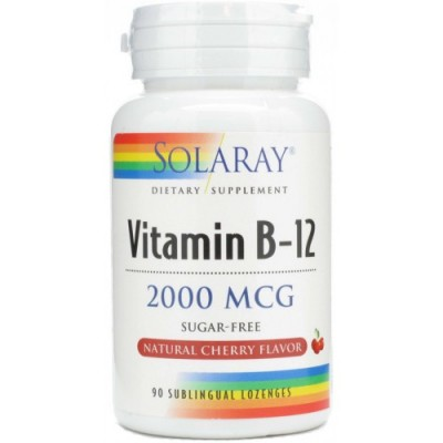 Solaray Vitamina B12 2000µg 90 comprimidos sublinguales
