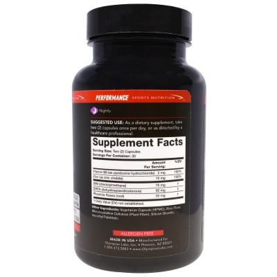 Potenciador de Testosterona, 60 Cápsulas, Nutrición para Deportes de Rendimiento de Olympian Labs Inc