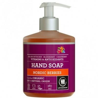 Jabón manos frutos rojos Urtekram 380 ml