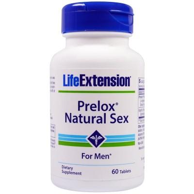 Prelox, sexo natural para hombres, 60 tabletas de Life Extension