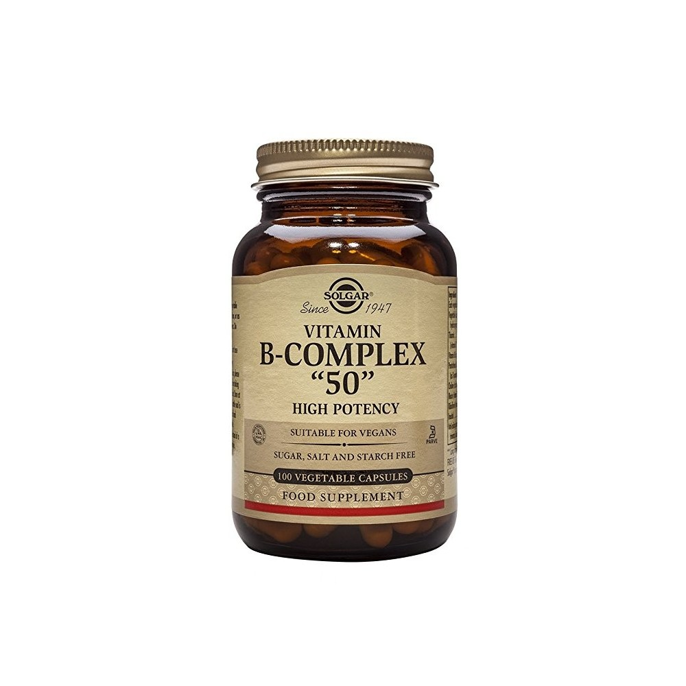 """VITAMINA B-COMPLEX """"50"""" en 100 CÁPSULAS DE SOLGAR SOLGAR 031121 Inicio salud.bio"""