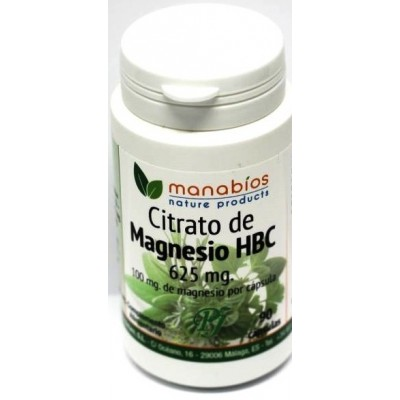 Citrato de Magnesio 625mg 90 cápsulas - Manabios Manabios 111444 Suplementos Minerales  salud.bio