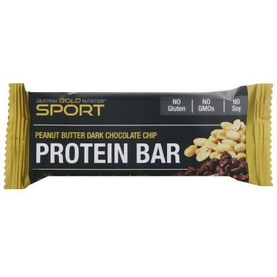 Barrita de proteína, Maní y chocolate negro, 60 g. de California Gold Nutrition California Gold Nutrition CGN-01096 Inicio sa...