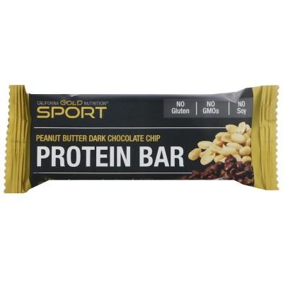 Barrita de proteína, Maní y chocolate negro, 60 g. de California Gold Nutrition California Gold Nutrition CGN-01096 Proteinas...