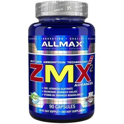 ZMX2 avanzado, 90 cápsulas de ALLMAX Nutrition SOLGAR AMX-12810 Suplementos Minerales  salud.bio