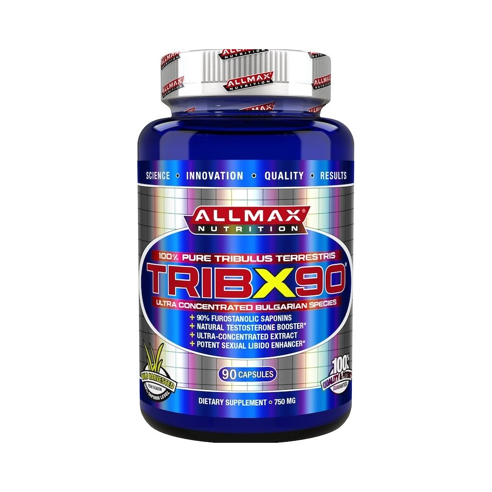 TribX90, 100% puro Tribulus Terrestris doble potencia 750 mg, 90 cápsulas de ALLMAX Nutrition