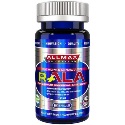 R+ Alpha Lipoic Acid (Max Strength R- Alpha Lipoic Acid), 150 mg, 60 Veggie Capsules, ALLMAX Nutrition ALLMAX Nutrition AMX-2...