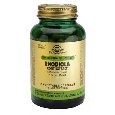 Extracto de Raíz de Rhodiola, 60 Cápsulas Vegetales de Solgar