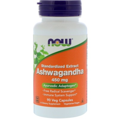 Ashwagandha 450 mg, 90 cápsulas vegetarianas de Now Foods