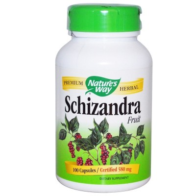 Fruta Schizandra,80 mg, 100 cápsulas de Nature's Way