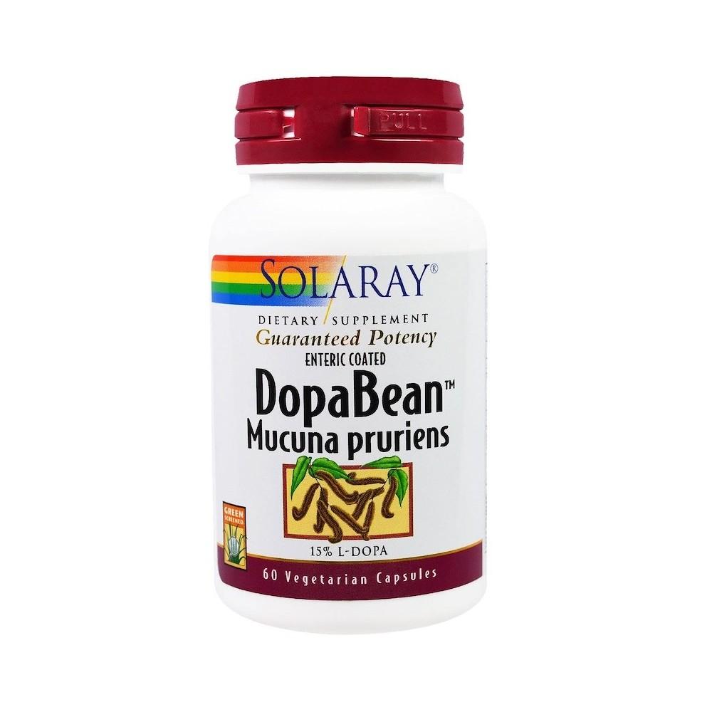 DopaBean Mucuna Pruriens en 60 cápsulas vegetarianas de Solaray SOLARAY  Estados emocionales, ansiedad, estrés, depresión, re...