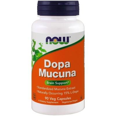 L-Dopa Mucuna, 90 cápsulas vegetales de Now Foods now suplementos NOW-03092 Estados emocionales, ansiedad, estrés, depresión,...
